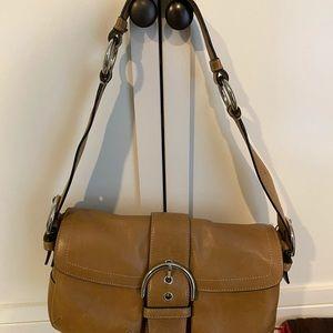Khaki coach bag